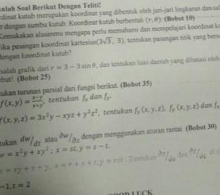 Kalkulus turunan parsial
