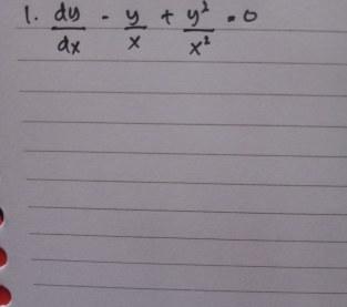 Soal persamaan diferensial non linier